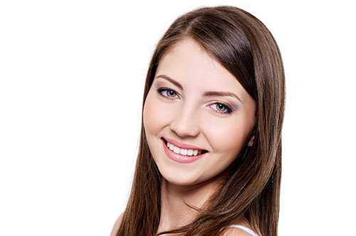 Woman after smile makeover